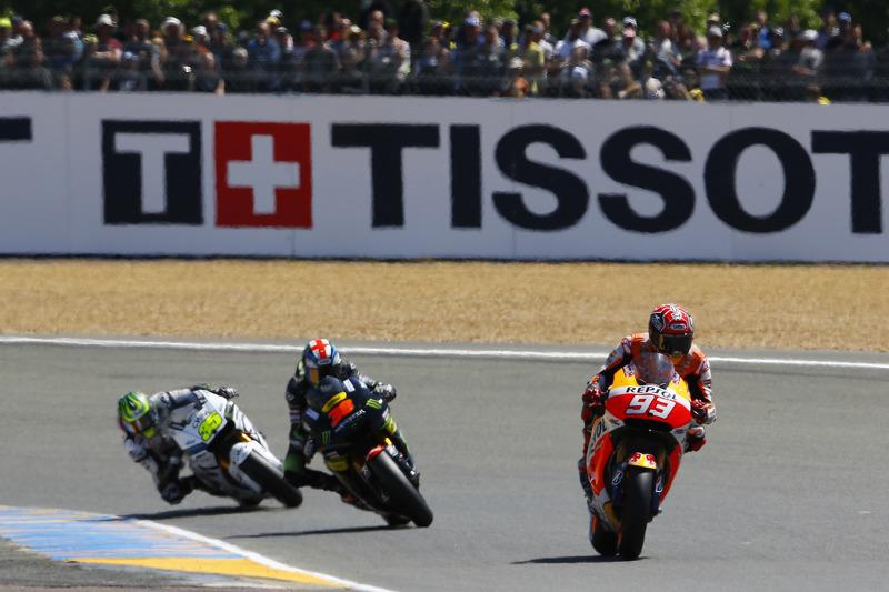 Marc Marquez, Repsol Honda Team, Bradley Smith, Tech 3 Yamaha et Cal Crutchlow, Team LCR Honda
