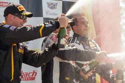 GTS podium: race winner Jack Baldwin, second place Kurt Rezzetano, third place Michael Cooper