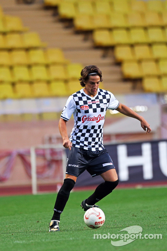 Roberto Merhi Manor F1 Team at the charity football match
