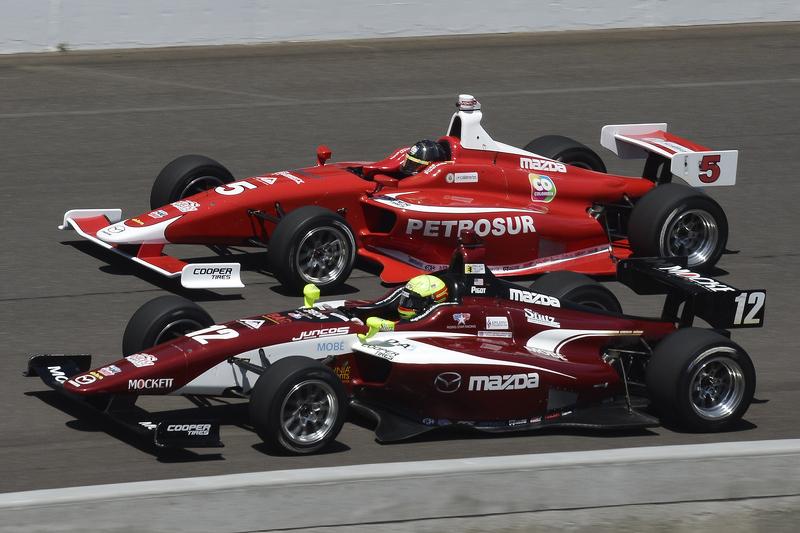 Juan Piedrahita, Belardi Auto Racing, und Spencer Pigot, Juncos Racing