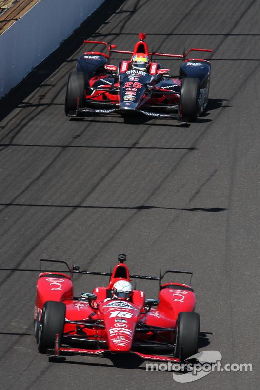 Graham Rahal, Rahal Letterman Lanigan Racing, und Justin Wilson, Andretti Autosport, Honda