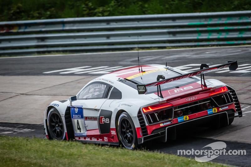 #4 Phoenix Racing, Audi R8 LMS: Marc Basseng, Marcel Fässler, Mike Rockenfeller, Frank Stippler