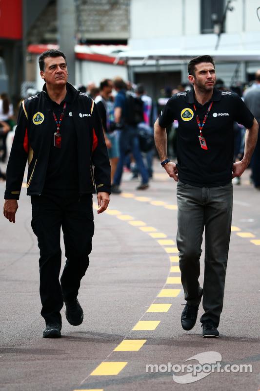 (Kiri ke Kanan): Federico Gastaldi, Lotus F1 Team Deputy Team Principal dengan Matthew Carter, CEO Lotus F1 Team CEO