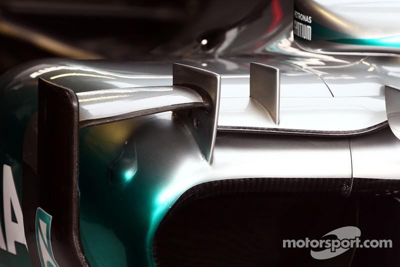 Mercedes AMG F1 W06 sidepod detayı