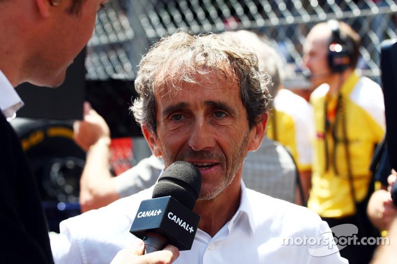 Alain Prost in der Startaufstellung
