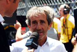 Alain Prost sulla griglia di partenza