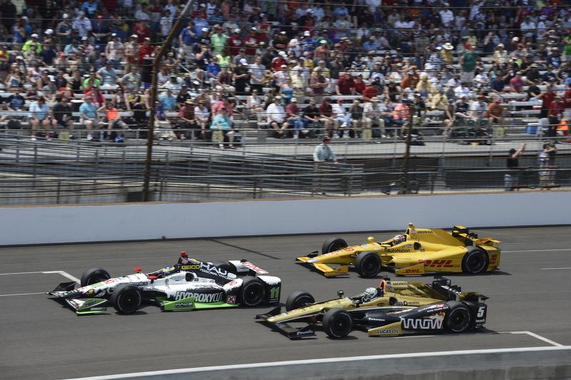 Sebastien Bourdais, KVSH Racing, Ryan Briscoe, Schmidt Peterson Motorsports Honda, dan Ryan Hunter-R