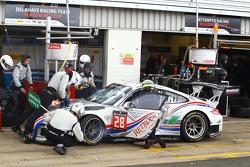 #28 Delahaye Racing Team, Porsche 997 GT3 R: Pierre Bordet, Alexandré Viron, Emmanuel Orgeval