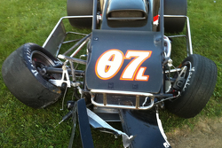 Damages sprint car