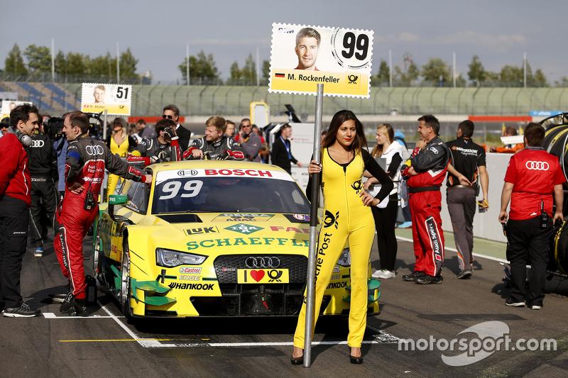 Gridgirl of Mike Rockenfeller, Audi Sport Team Phoenix Audi RS 5 DTM