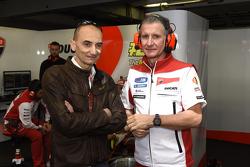 Claudio Domenicali y Paolo Ciabatti, Ducati Team