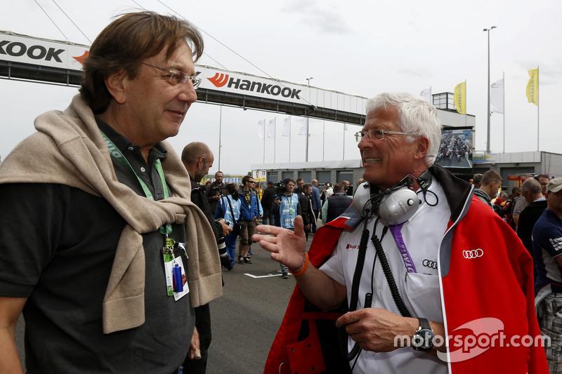 Claus Mühlberger, Auto Motor und Sport Editor and Arno Zensen, Audi Sport Team Rosberg