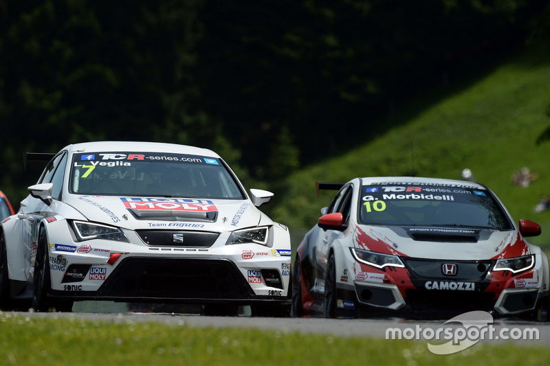 Lorenzo Veglia, SEAT Leon, Liqui Moly Team Engstler, dan Gianni Morbidelli, Honda Civic TCR, West Co