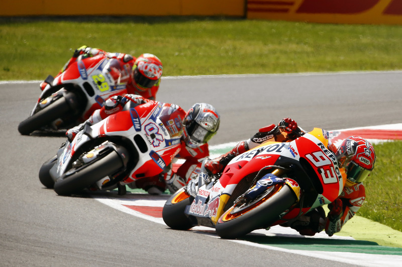 Марк Маркес, Repsol Honda Team та Андреа Довізіосо та Андреа Янноне, Ducati Team