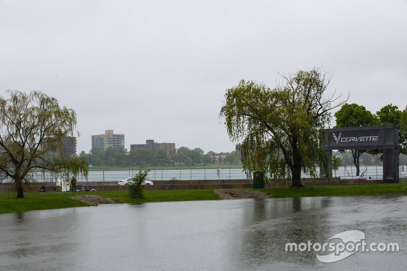Regnerische Bedingungen in Detroit
