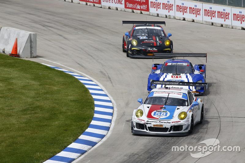 #58 Wright Motorsports Porsche 911 GT America: Madison Snow, Jan Heylen, #01 Chip Ganassi Ford/Riley