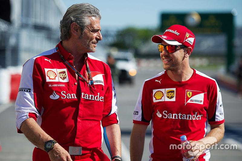 Мауріціо Аррівабене, Керівник Scuderia Ferrari з Себастьян Феттель, Ferrari