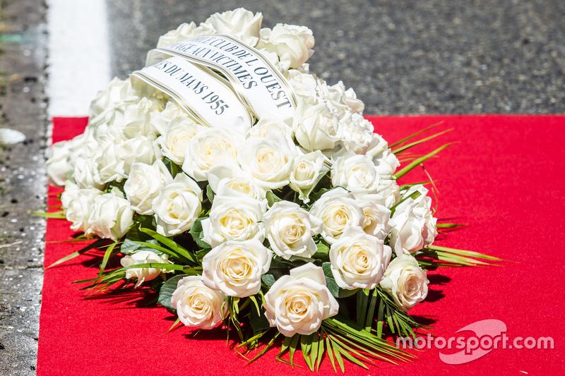 Zeremonie zum Gedenken an die Tragödie bei den 24 Stunden von Le Mans 1955