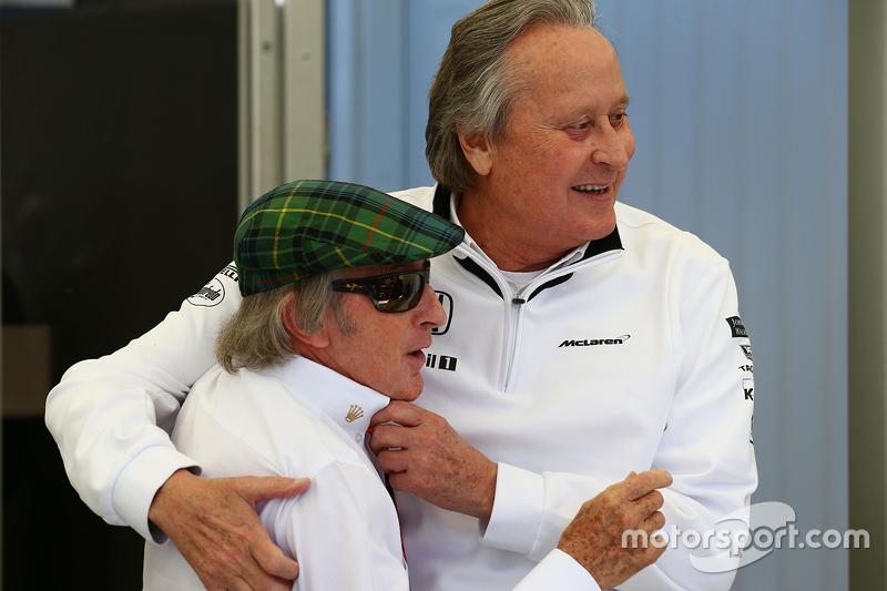 Jackie Stewart, with Mansour Ojjeh, McLaren shareholder