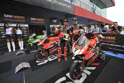 Davide Giugliano und Chaz Davies, Ducati Superbike Team