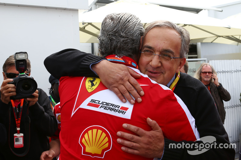 Maurizio Arrivabene, Ferrari-Teamchef, mit Sergio Marchionne, Ferrari-Präsident und Geschäftsführer