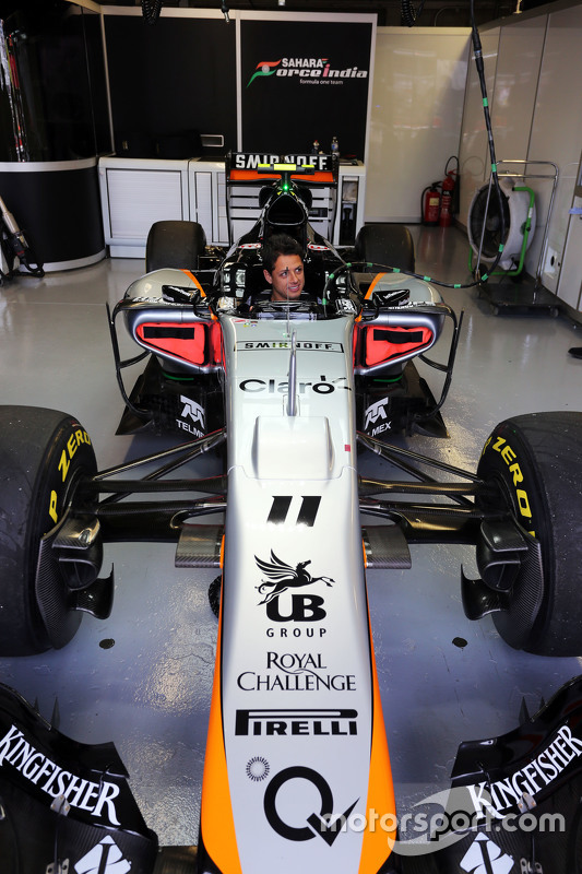 Javier Hernandez, Manchester Utd Football Player with the Sahara Force India F1 Team