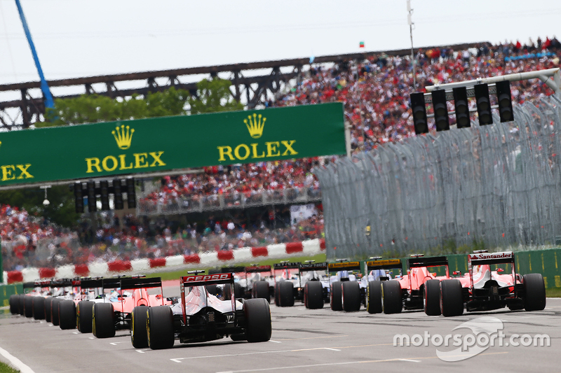Max Verstappen, Scuderia Toro Rosso STR10, beim Start