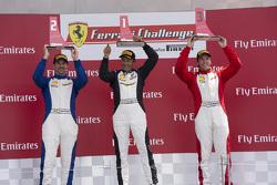 458TPAM Podium: Race winner #8 Ferrari of Fort Lauderdale Ferrari 458, second place #13 Ferrari of O