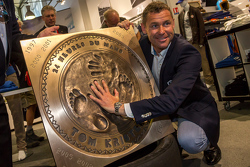 Tom Kristensen unveils his hand and foot print plaque