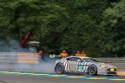 Bremsprobleme bei #97 Aston Martin Racing, Aston Martin Vantage GTE: Darren Turner, Stefan Mücke, Ro