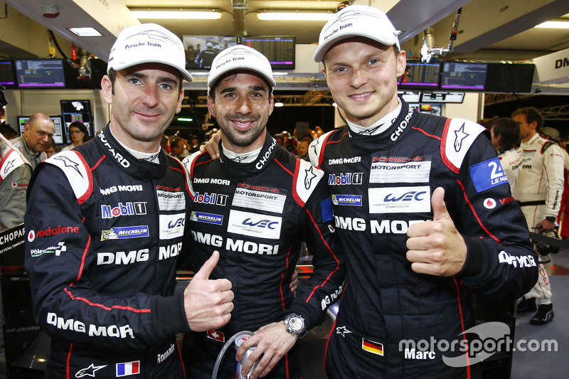 Pole-Sitter: Romain Dumas, Neel Jani, Marc Lieb; Porsche Team