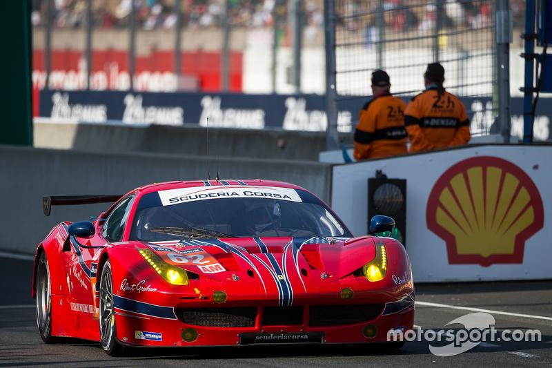 #62 Scuderia Corsa, Ferrari 458 GTE: Bill Sweedler, Townsend Bell, Jeff Segal