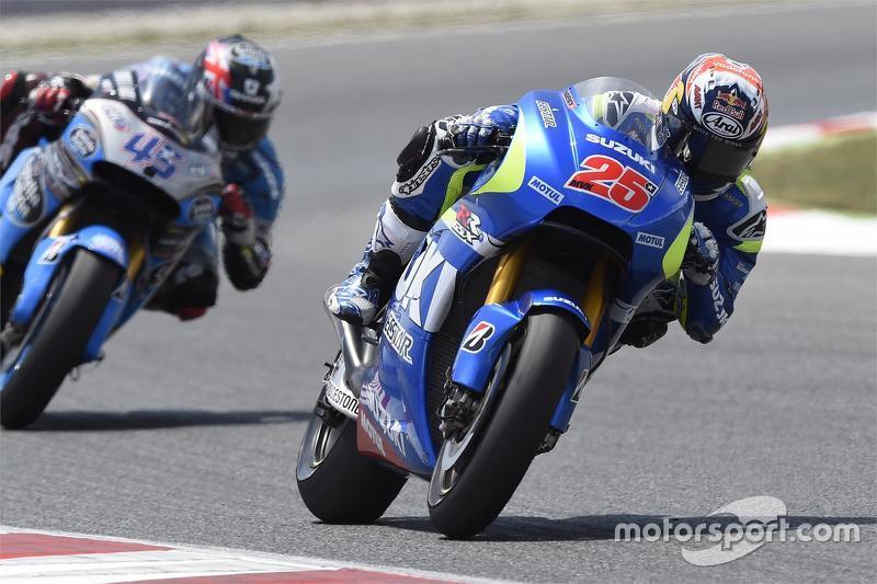 Maverick Viñales, Team Suzuki MotoGP, und Scott Redding, Marc VDS Racing, Honda