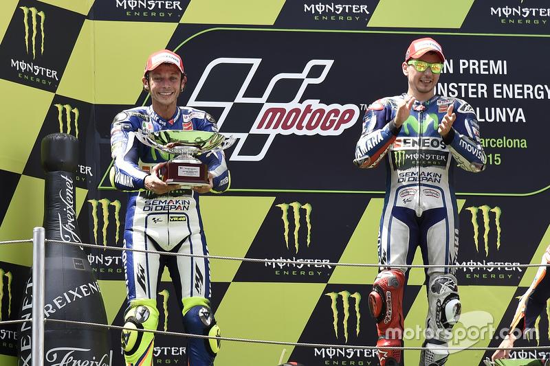 2. Valentino Rossi, 1. Jorge Lorenzo, Yamaha Factory Racing