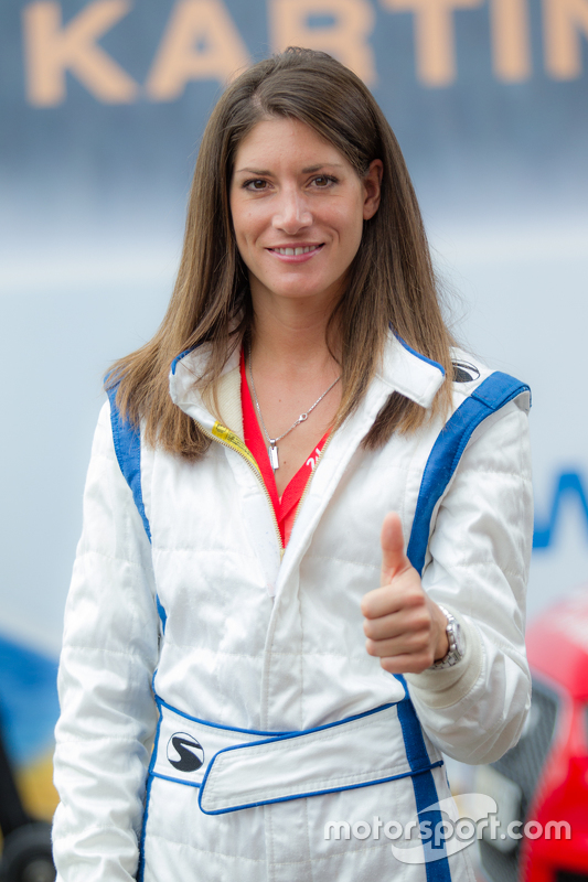 Race car driver and RTL Germany reporter Cyndie Allemann