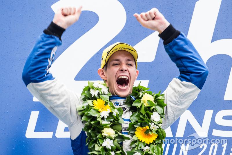 LMP2 podium: class winners #47 KCMG ORECA 05: Richard Bradley