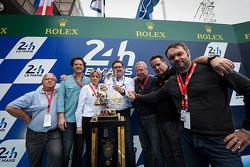 Premio ACO / UJSF Comunicaciones Alessandro Barlozzi, el gerente de comunicaciones de Michelin, Jean-Claude Virfeu, Eric Gilbert, Bruno Palmet, Jean-Marc Tesseidre