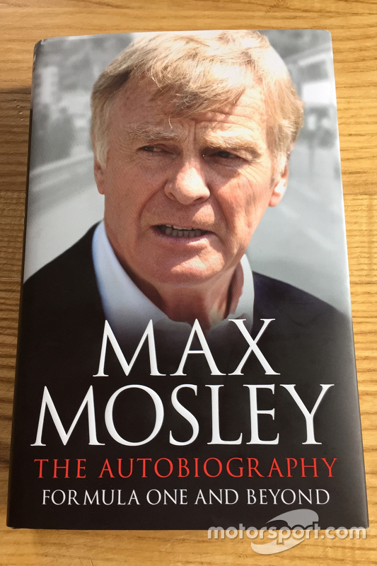 Cover of Max Mosley's new autobiography