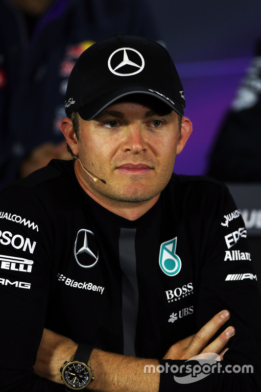 Nico Rosberg, Mercedes AMG F1 na conferência de imprensa da FIA