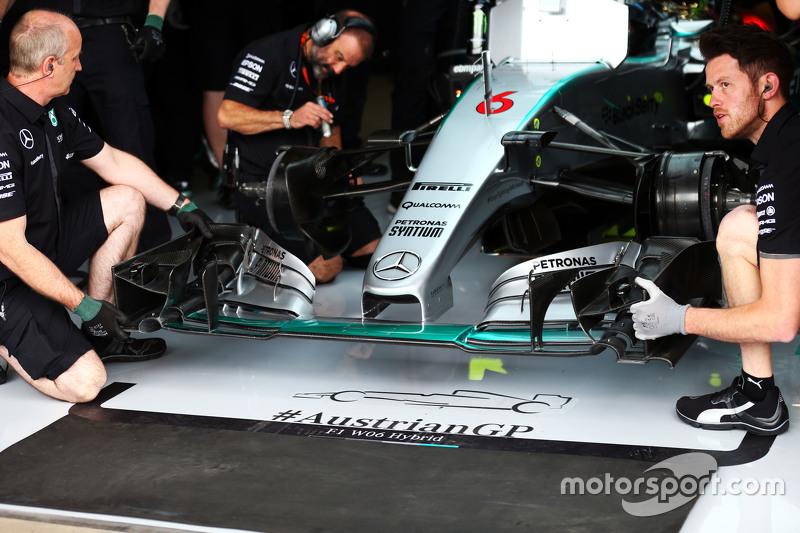 Nico Rosberg, Mercedes AMG F1 W06, Frontflügel