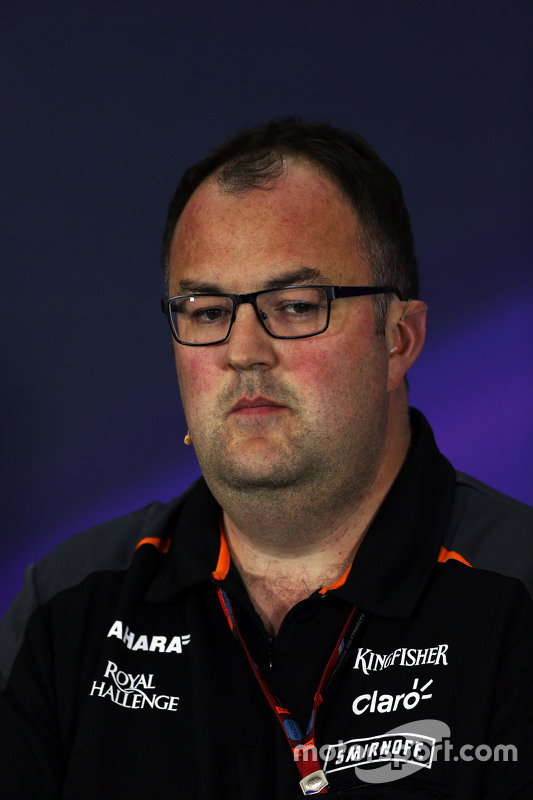 Tom McCullough, Sahara Force India F1 Team Chief Engineer in the FIA Press Conference