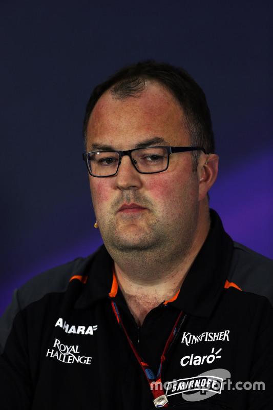 Tom McCullough, Sahara Force India F1 Team na coletiva de imprensa da FIA