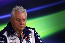 Pat Symonds, Director Técnico de Williams en la conferencia de prensa de la FIA