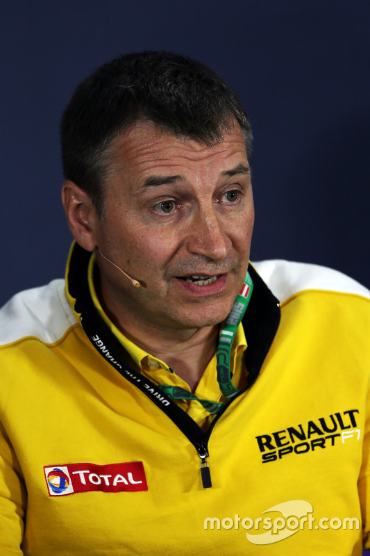Rob White, Renault Sport Deputy Managing Director, in the FIA Press Conference