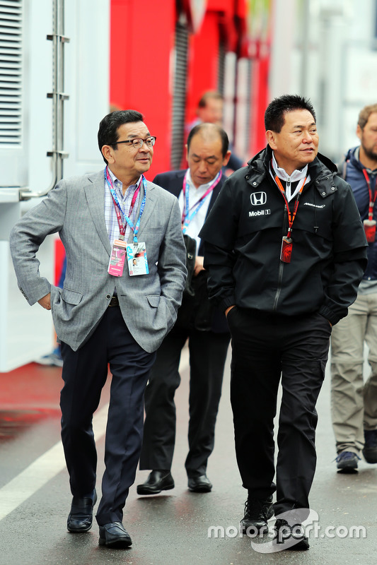 Takahiro Hachigo, Honda CEO with Yasuhisa Arai, Honda Motorsport Chief Officer