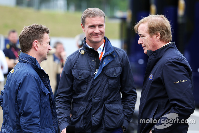 Allan McNish, BBC-Experte, mit David Coulthard, Berater bei Red Bull Racing und Scuderia Toro/BBC-Ko