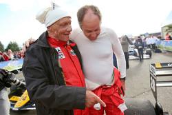 Niki Lauda en Gerhard Berger op de Legends Parade