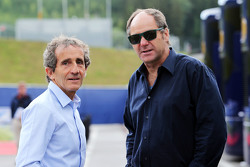 Gerhard Berger and with Alain Prost