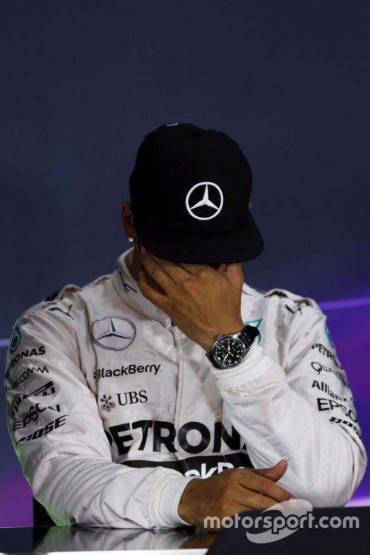 Lewis Hamilton, Mercedes AMG F1 in de FIA persconferentie