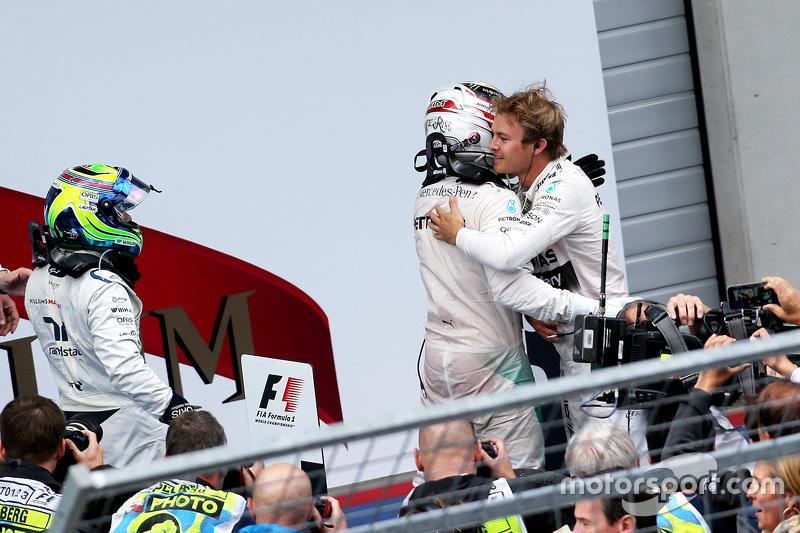 1. Nico Rosberg, 2. Lewis Hamilton, 3. Felipe Massa